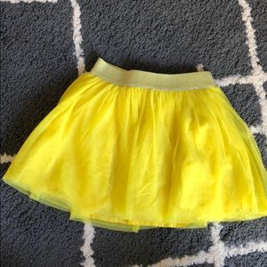 Baby Gap Toddler Girls Yellow Tulle Skirt 2T